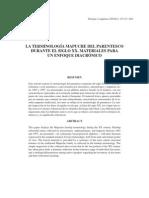 TERMINOLOGÍA MAPUCHE DEL PARENTESCO - Adalberto Salas