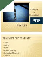 Epitaph - Analysis