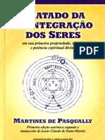 Tratado da reintegração dos Seres - Martines Pasqually