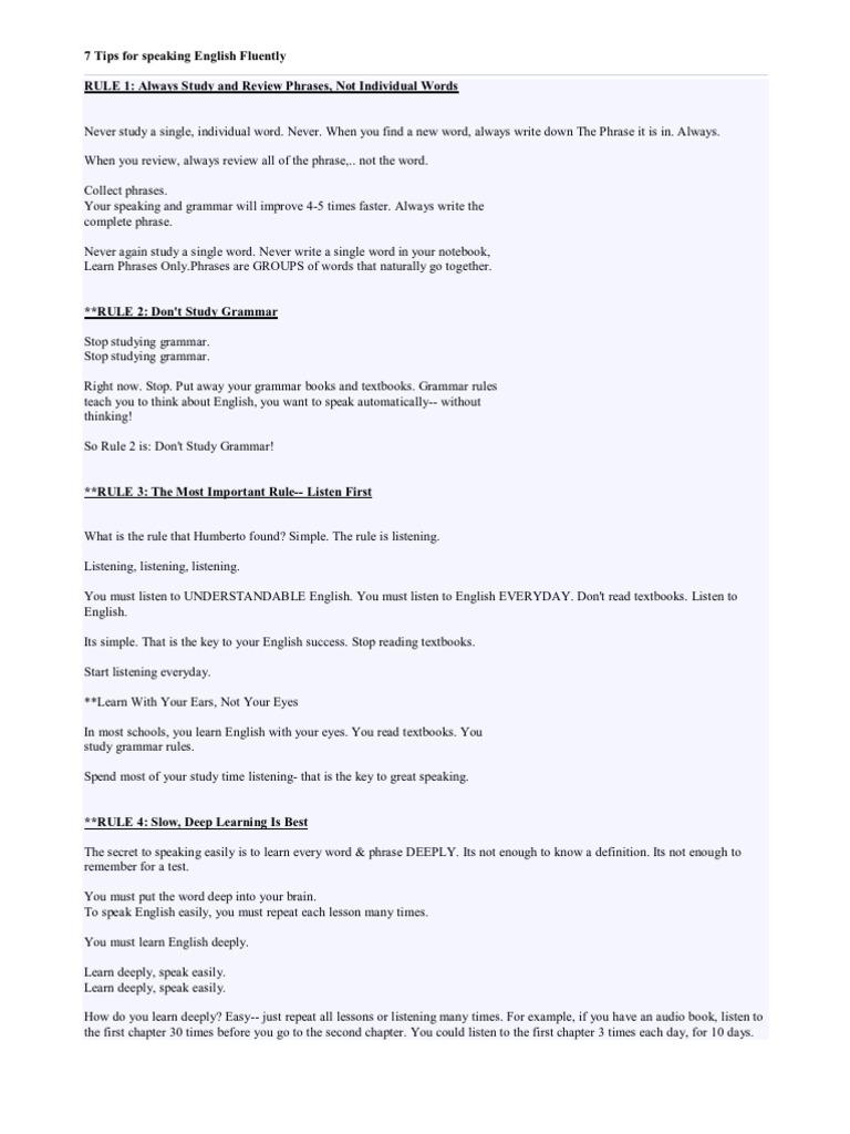 read and speak english keys