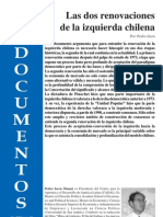 Las Dos Renovaciones de La Izquierda Chilena. Pedro Isern