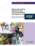 Report on Human Biomonitoring of Environmental Chemicals in Canada. Results... 2007-2009 (Health Canada. 2010)