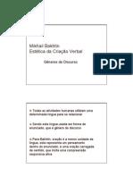 Mikhail Bakhtin - Generos Do Discurso