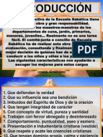 MAESTRAS NIÑOS ESCUELA SABÁTICA CARACTERÍSTICAS