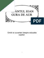 Sfantul Ioan Gura de Aur, Omilii Si Cuvantari Despre Educatia Copiilor
