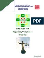 Ems Audit and Regulatory Compliance - Checklist