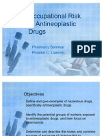 Occupational Risk of Anti Neoplastic Drugs