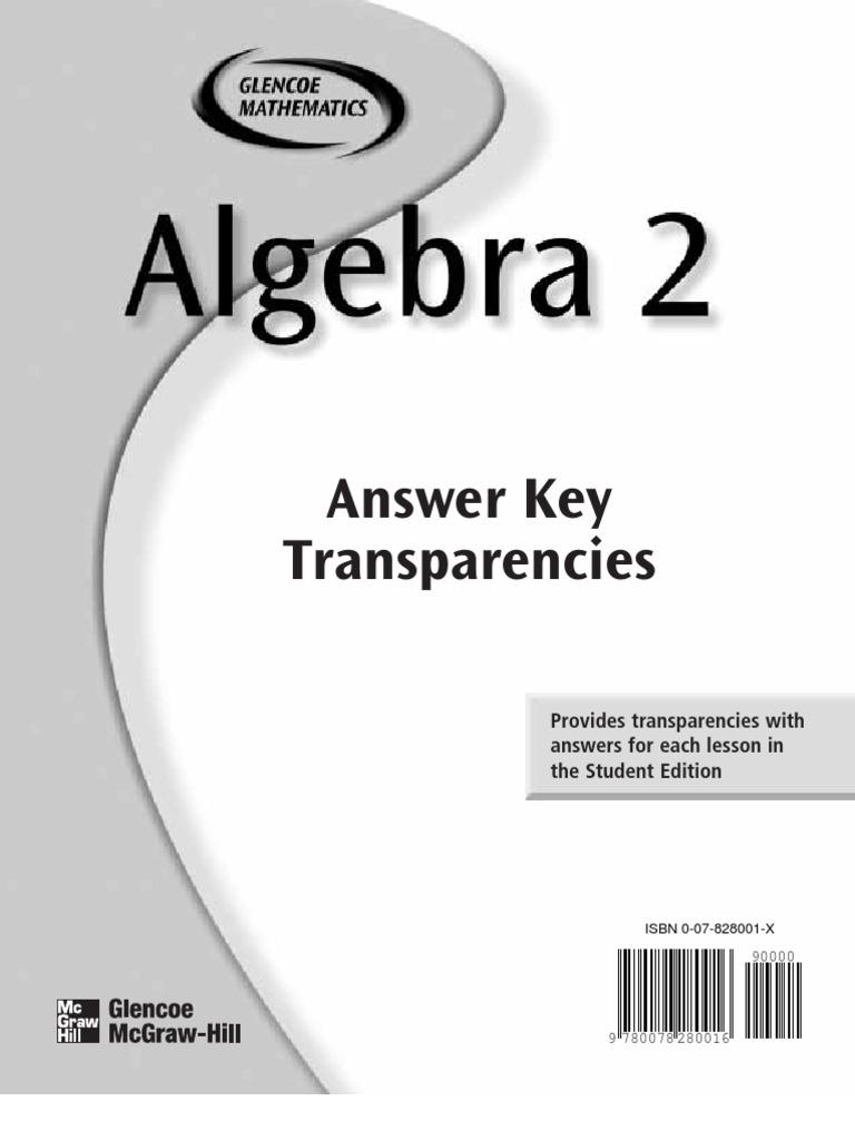 Worksheets Glencoe Algebra 2 Worksheet Answer Key honalg2anskey rational number equations