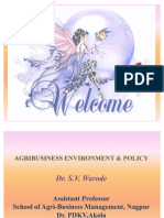 Agricultural Environment and Policy