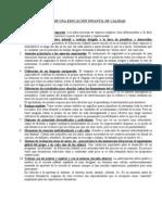 DIEZ ASPECTOS CLAVE PARA UNA EDUCACIÓN INFANTIL DE CALIDAD