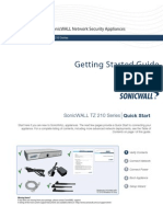 SonicWALL TZ 210 Series Getting Started Guide
