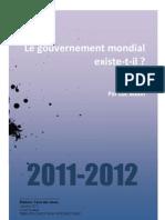 Le Gouvernement Mondial Existe-t-il