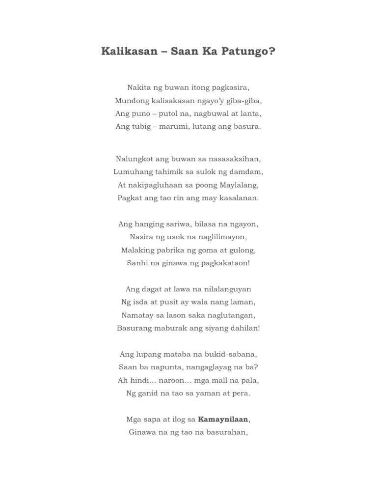 kwento tungkol sa pangangalaga sa kalikasan Halimbawa ng balagtasan tungkol sa kalikasan maikling kwento tungkol sa kalikasan at wikang filipino,  talumpati sa kabataan, talumpati sa pangangalaga ng.