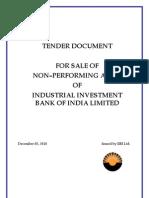 IIBI NPA Tender Document 031210