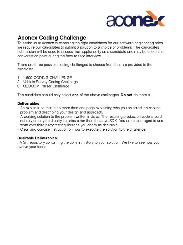 The Coding Challenge