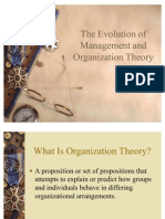 THEORY AND MANAGEMENT OF ORGANISATIONS