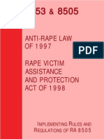 Republic Act 8505 and 8353 Anti-rape Law