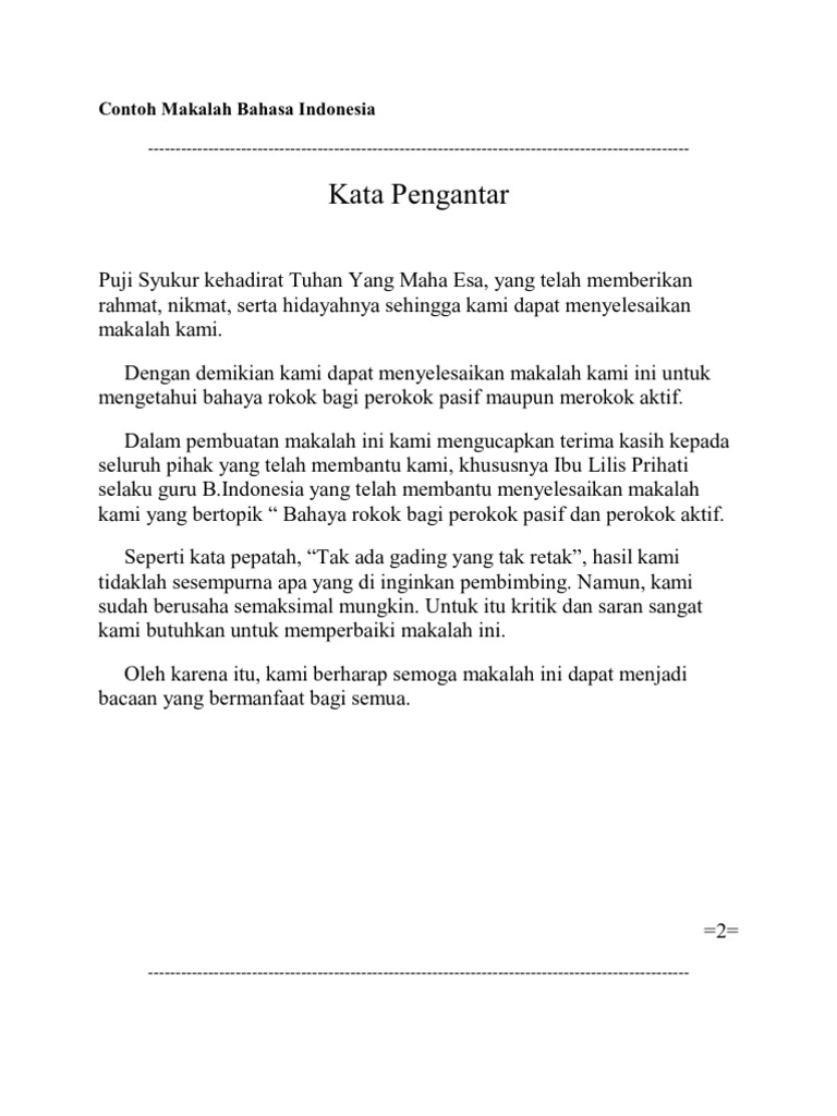 Contoh Makalah Tentang Bahasa Indonesia - Aneka Macam Contoh