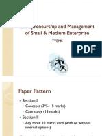 Entrepreneurship Management BMS