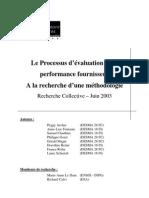 0055 Processus Evaluation Performance Fournisseur