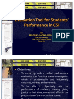 Evaluation Tool for CSI