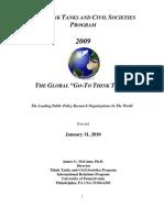2009GlobalGoToReportThinkTankIndex1.31.10_2010.02.14