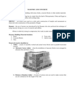Masonry and Concrete- Fin