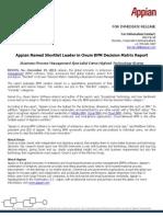 Appian Named Shortlist Leader in Ovum BPM Decision Matrix Report