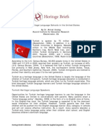 Turkish Heritage Language Schools in the Us