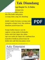 T Tamu Tak Diundang - Liryc Lagu Dangdut - Iis Dahlia