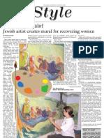 jewish chronicle layout - painting