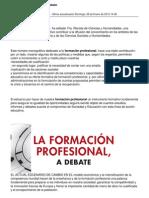 La Formación Profesional a debate