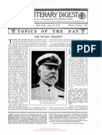 The Titanic tragedy, article, The literary digest, 27 apr 1912