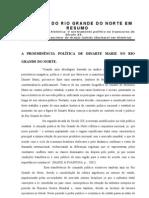 A PROEMINÊNCIA POLÍTICA DE DINARTE MARIZ NO RIO GRANDE DO NORTE