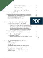 Circular Motion Mark Scheme