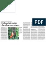 Cacao de Amazonia del Perú y el chocolate de Suiza
