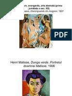 Cubism, fovism, avangarda, arta abstrată