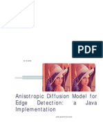 Anisotropic Diffusion Model for Edge Detection