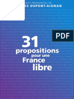 79005746 Projet Presidentiel de Nicolas Dupont Aignan 31 Propositions Pour Une France Libre