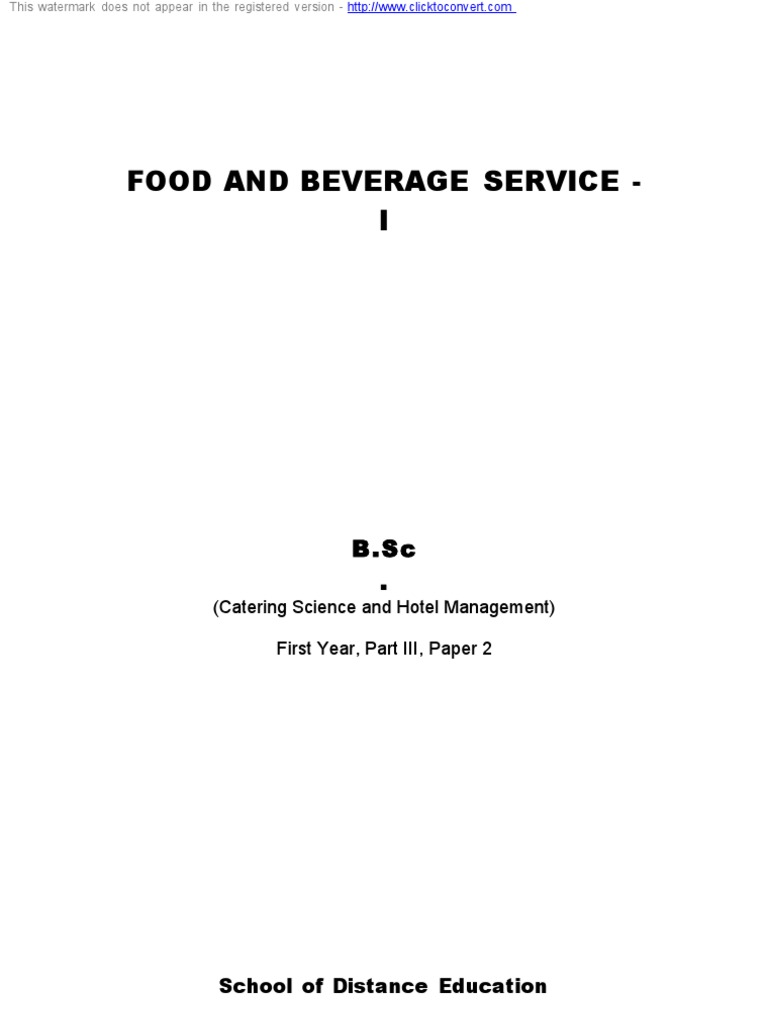 Lillicrap food and beverage service pdf