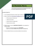 Como solicitar Federativas 2012 - Club de Montaña Maria