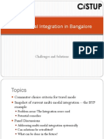 Multi-Modal Integration in Bangalore Rev1.2