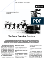 The Corps' Peacetime Functions