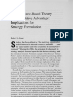 resource based view and porter's five Introduction this report aims to examine porter's five-force framework and resource based view theory by discussing each theory's background, unit of analysis, assumptions, social welfare implications and lastly compare and contrast the two theories resource based view (rbv) the rbv model emphasizes firm's.
