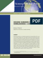 Oflaherty Housing Subsidy