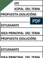4E1 Idea Principal El Tema y Propuesta