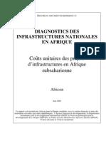 Couts Unitiares Des Projets d'Infrastructures en Afrique Sub Saharienne_aicd Background Paper 11 Unit Costs Summary Fr