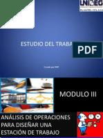 Analisis de las operaciones para diseñar una estacion de trabajo TEORIA