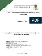[Luthieria] Avaliação de Madeiras Amazônicas para Utilização em instrumentos Musicais