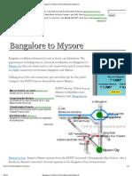 Bangalore to Mysore _ Everything About Mysore!